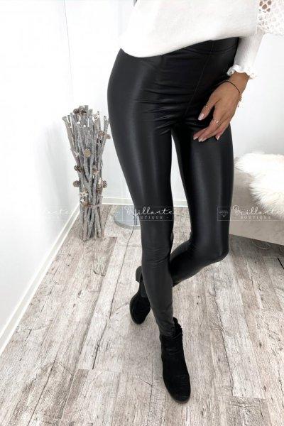 Spodnie lateksowe nieocieplane latex zip beige